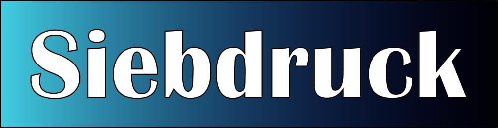 Siebdruck Logo
