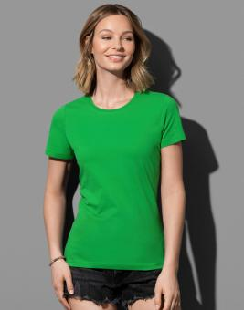 Classic-T-Shirt Rundhals Damen