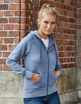 Damen Fashion Full-Zip Kapuzen-Hoodie 5436