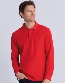 Premium Cotton Adult Double Pique Langarm Poloshirt