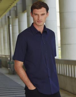 Popelin kurzarm Herren Hemd