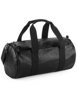 Faux Leather Barrel Bag BG258